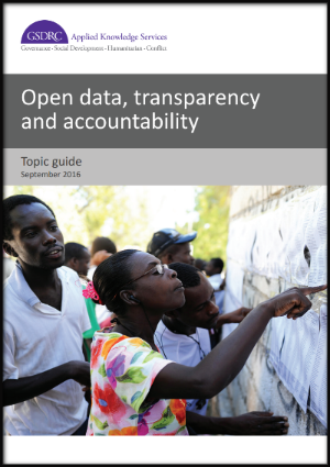 New Research Guide on Open Data and Accountabiltiy
